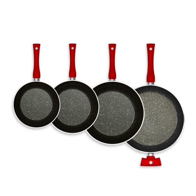 Poêles de cuisine rouge Tentation Durandal